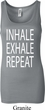 Yoga Inhale Exhale Repeat Ladies Longer Length Tank Top