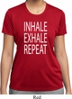 Yoga Inhale Exhale Repeat Ladies Moisture Wicking Shirt