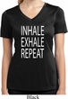 Yoga Inhale Exhale Repeat Ladies Moisture Wicking V-neck Shirt