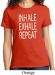 Yoga Inhale Exhale Repeat Ladies Shirt
