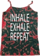 Yoga Inhale Exhale Repeat Ladies Tie Dye Camisole Tank Top