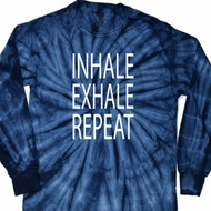Yoga Inhale Exhale Repeat Long Sleeve Tie Dye Shirt