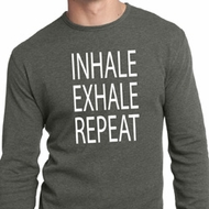 Yoga Inhale Exhale Repeat Mens Long Sleeve Thermal Shirt
