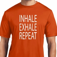 Yoga Inhale Exhale Repeat Mens Moisture Wicking Shirt