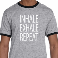 Yoga Inhale Exhale Repeat Mens Ringer Shirt