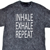 Yoga Inhale Exhale Repeat Mineral Tie Dye Shirt