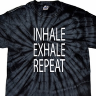 Yoga Inhale Exhale Repeat Spider Tie Dye Shirt