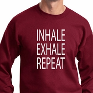 Yoga Inhale Exhale Repeat Sweatshirt
