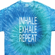 Yoga Inhale Exhale Repeat Tie Dye Shirt