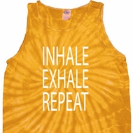 Yoga Inhale Exhale Repeat Tie Dye Tank Top