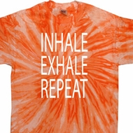 Yoga Inhale Exhale Repeat Twist Tie Dye Shirt