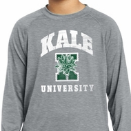 Yoga Kale University Darks Kids Dry Wicking Long Sleeve Shirt