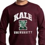 Yoga Kale University Darks Kids Long Sleeve Shirt