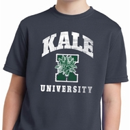Yoga Kale University Darks Kids Moisture Wicking Shirt