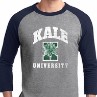 Yoga Kale University Darks Mens Raglan Shirt