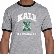 Yoga Kale University Darks Mens Ringer Shirt
