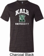 Yoga Kale University Darks Mens Tri Blend Crewneck Shirt