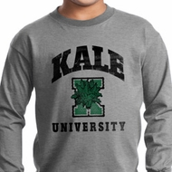Yoga Kale University Lights Kids Long Sleeve Shirt