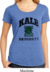 Yoga Kale University Lights Ladies Lace Back Shirt