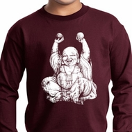 Yoga Laughing Buddha Kids Long Sleeve Shirt