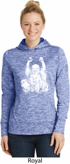 Yoga Laughing Buddha Ladies Dry Wicking Hoodie