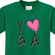 Yoga Love Kids Yoga Shirts