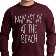 Yoga Namastay at the Beach Kids Long Sleeve Shirt