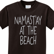Yoga Namastay at the Beach Kids Shirt