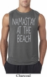 Yoga Namastay at the Beach Mens Sleeveless Shirt