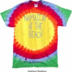 Yoga Namastay at the Beach Premium Tie Dye Shirt