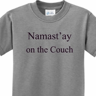 Yoga Namastay Home on the Couch Kids Shirt