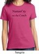 Yoga Namastay Home on the Couch Ladies Shirt