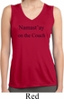 Yoga Namastay Home on the Couch Ladies Sleeveless Dry Wicking Shirt