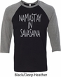 Yoga Namastay in Savasana Mens Raglan Shirt