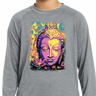 Yoga Psychedelic Buddha Kids Dry Wicking Long Sleeve Shirt