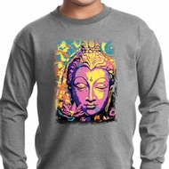 Yoga Psychedelic Buddha Kids Long Sleeve Shirt