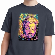Yoga Psychedelic Buddha Kids Moisture Wicking Shirt