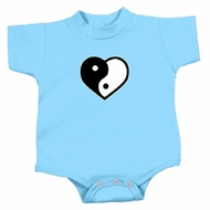 Yoga Romper Yin Yang Heart Small Print Infant Baby Creeper