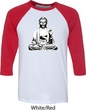 Yoga Shirt At Peace Buddha Raglan Shirt