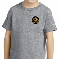 Yoga Shirt Gold AUM Patch Pocket Print Toddler Tee T-Shirt