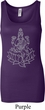 Yoga Tara Sketch Ladies Longer Length Tank Top