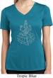 Yoga Tara Sketch Ladies Moisture Wicking V-neck Shirt