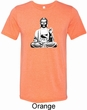 Yoga Tee At Peace Buddha Tri Blend Tee