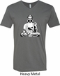 Yoga Tee At Peace Buddha V-neck Shirt