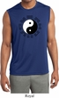 Yoga Ying Yang Trigrams Mens Sleeveless Moisture Wicking Shirt