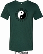 Yoga Ying Yang Trigrams Mens Tri Blend Crewneck Shirt