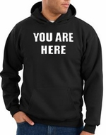 You Are Here Hoodie Black Hoody