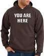 You Are Here Hoodie Brown Hoody