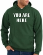 You Are Here Hoodie Dark Green