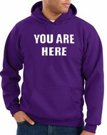 You Are Here Hoodie Purple Hoody